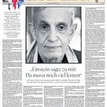 """""""Einstein sagte: Du musst noch viel lernen"""" – John Nash"""
